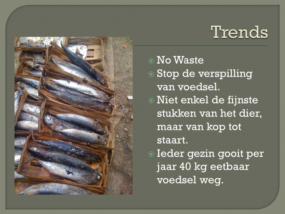 Trends No Waste Stop de verspilling van voedsel.