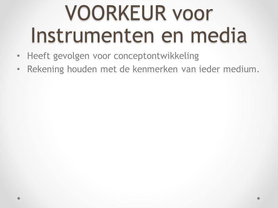 VOORKEUR voor Instrumenten en media