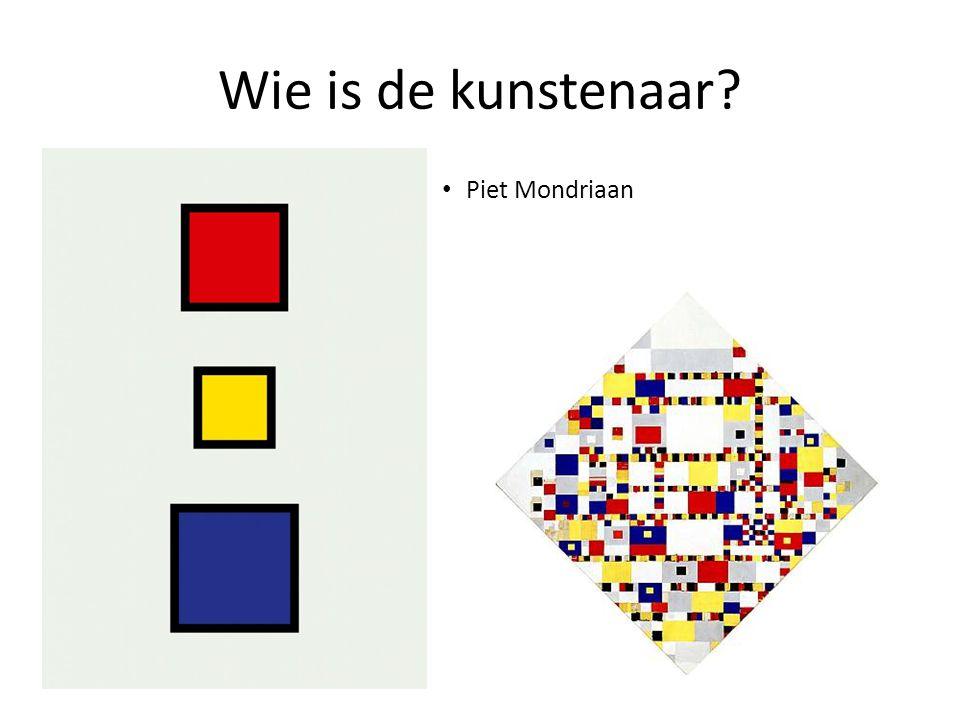 Wie is de kunstenaar Piet Mondriaan