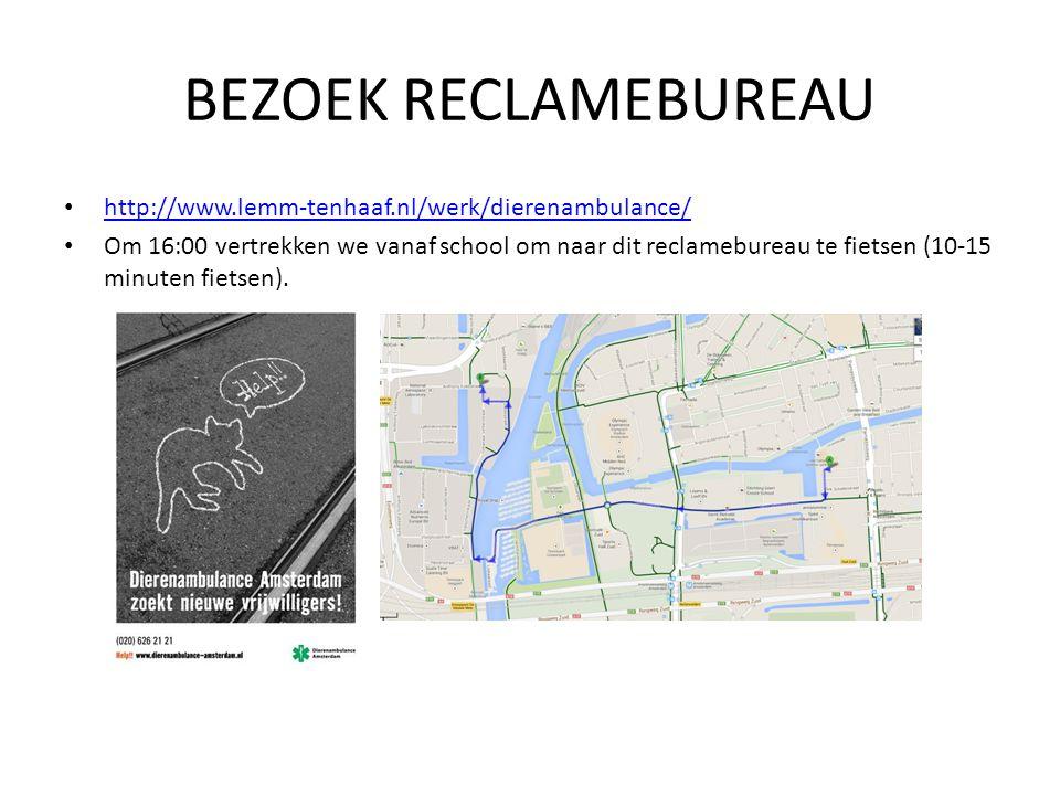 BEZOEK RECLAMEBUREAU http://www.lemm-tenhaaf.nl/werk/dierenambulance/