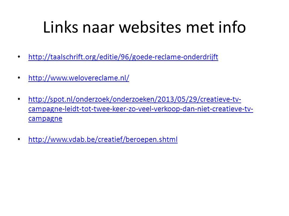 Links naar websites met info