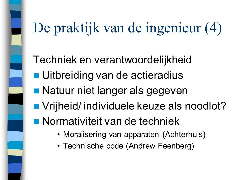 De praktijk van de ingenieur (4)