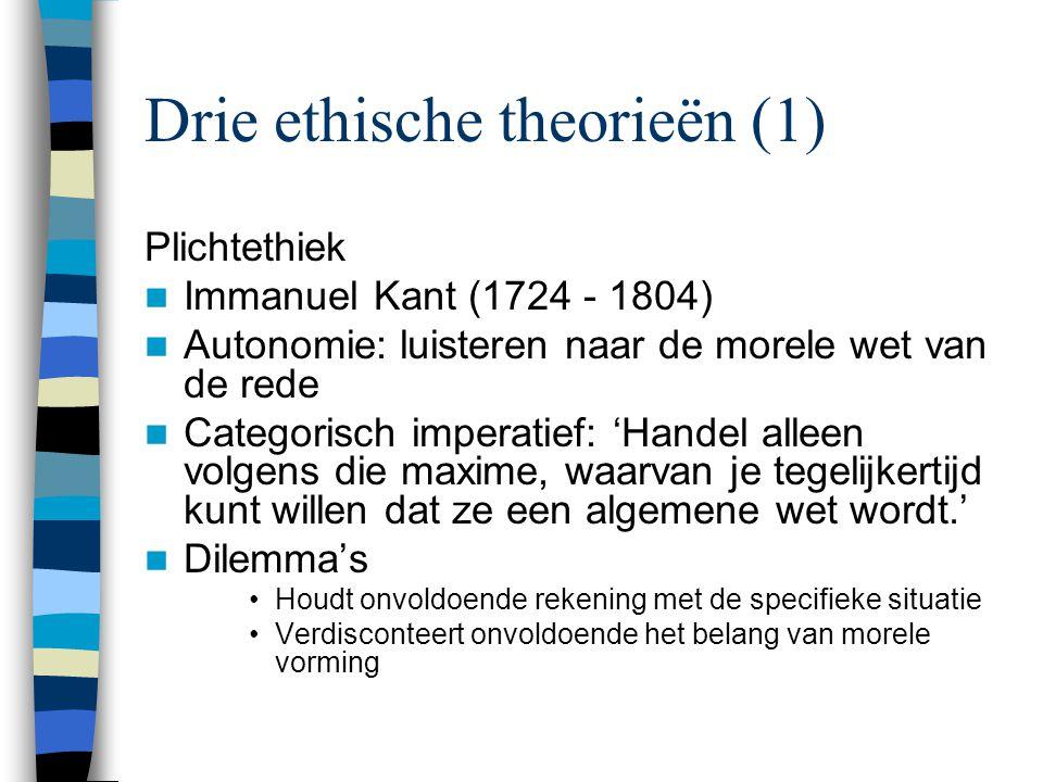 Drie ethische theorieën (1)