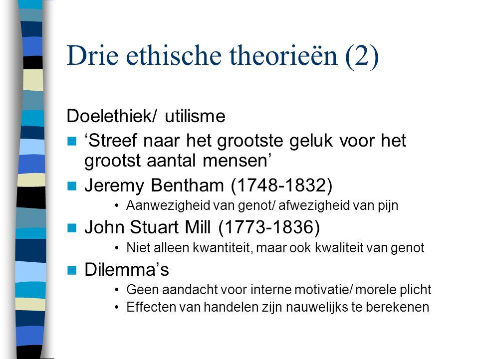 Drie ethische theorieën (2)