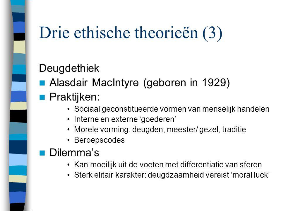 Drie ethische theorieën (3)