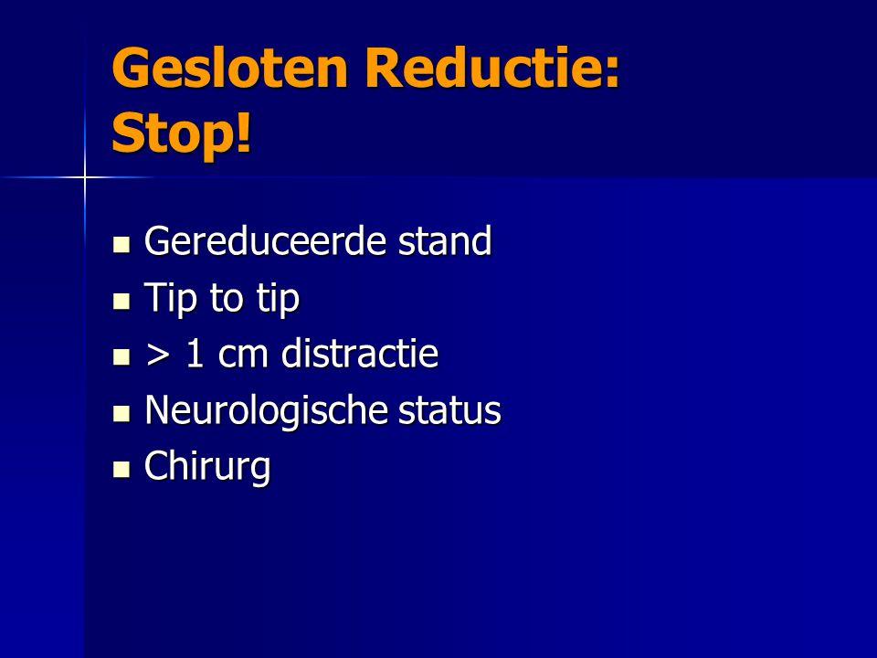 Gesloten Reductie: Stop!