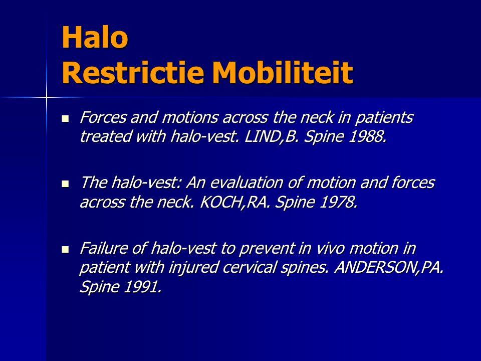 Halo Restrictie Mobiliteit