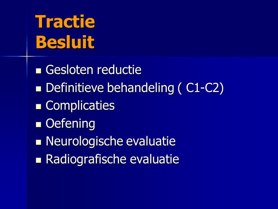 Tractie Besluit Gesloten reductie Definitieve behandeling ( C1-C2)