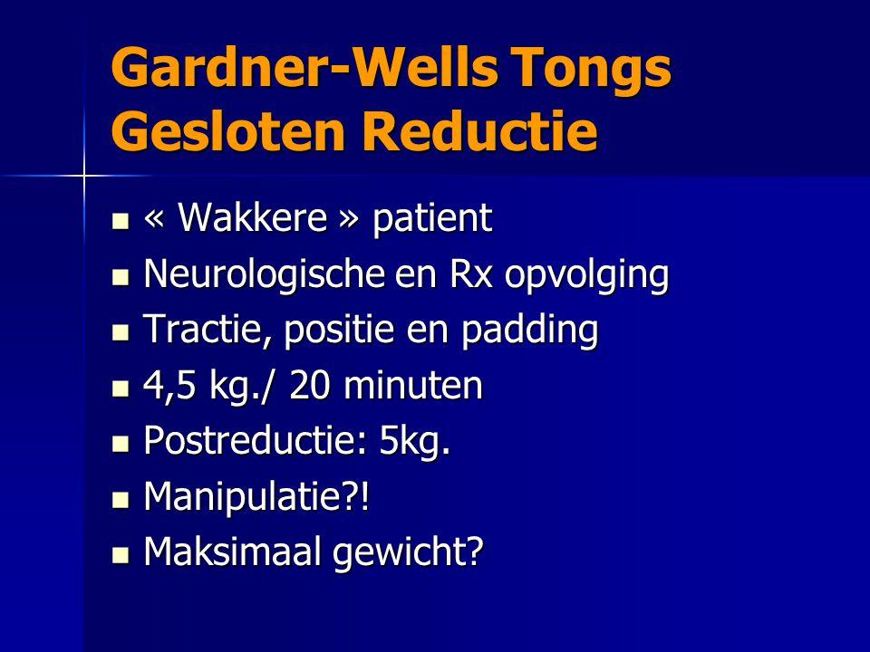 Gardner-Wells Tongs Gesloten Reductie