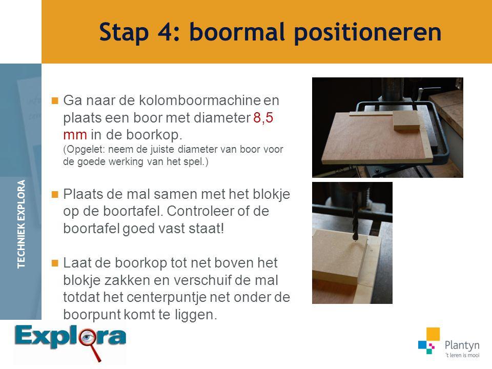 Stap 4: boormal positioneren