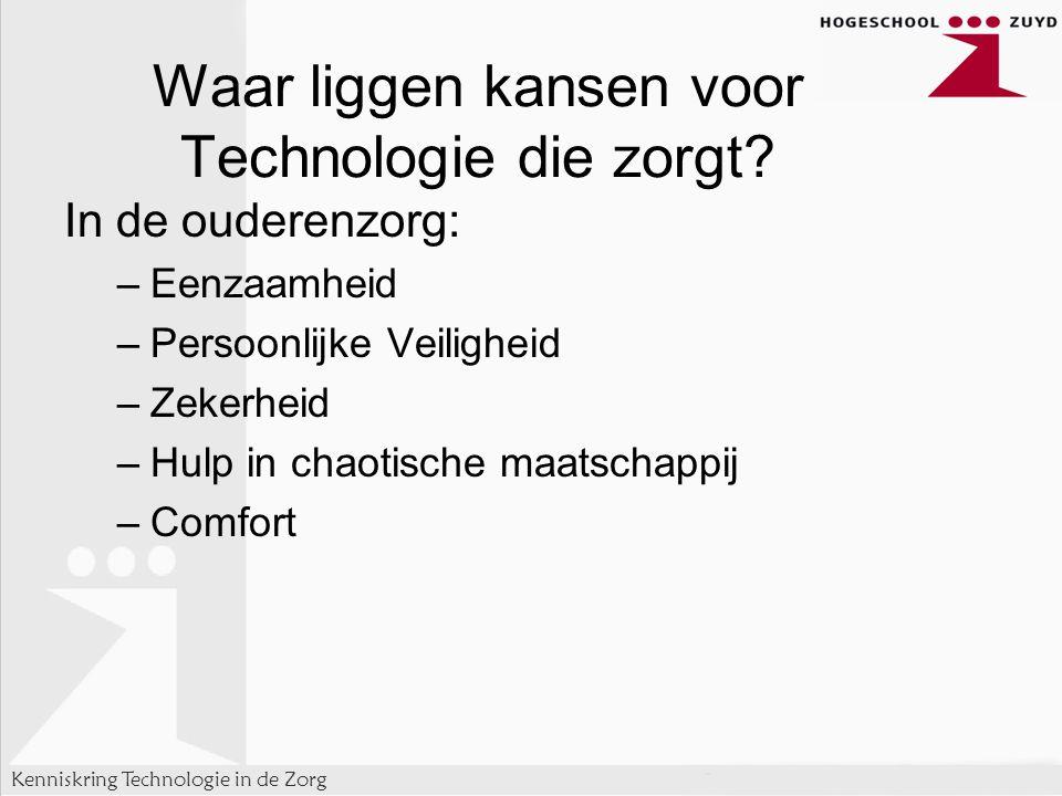 Waar liggen kansen voor Technologie die zorgt