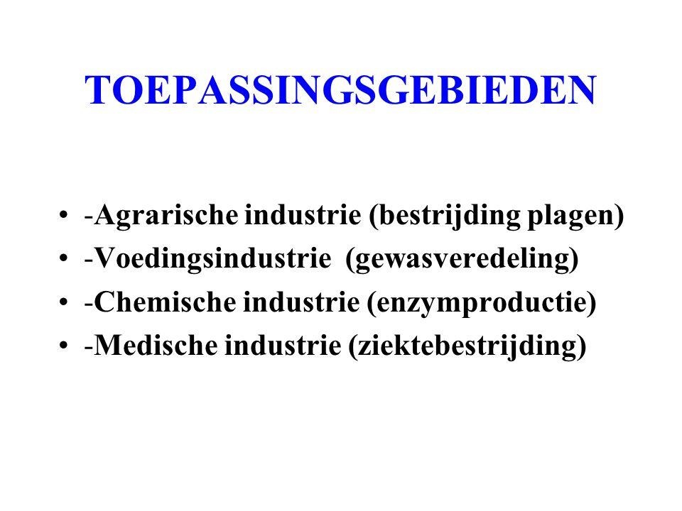TOEPASSINGSGEBIEDEN -Agrarische industrie (bestrijding plagen)