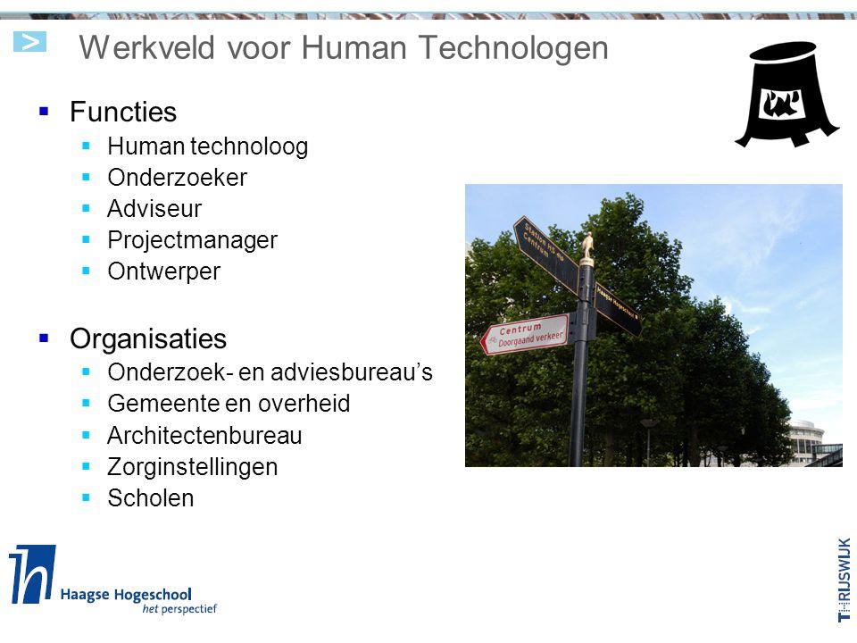 Werkveld voor Human Technologen