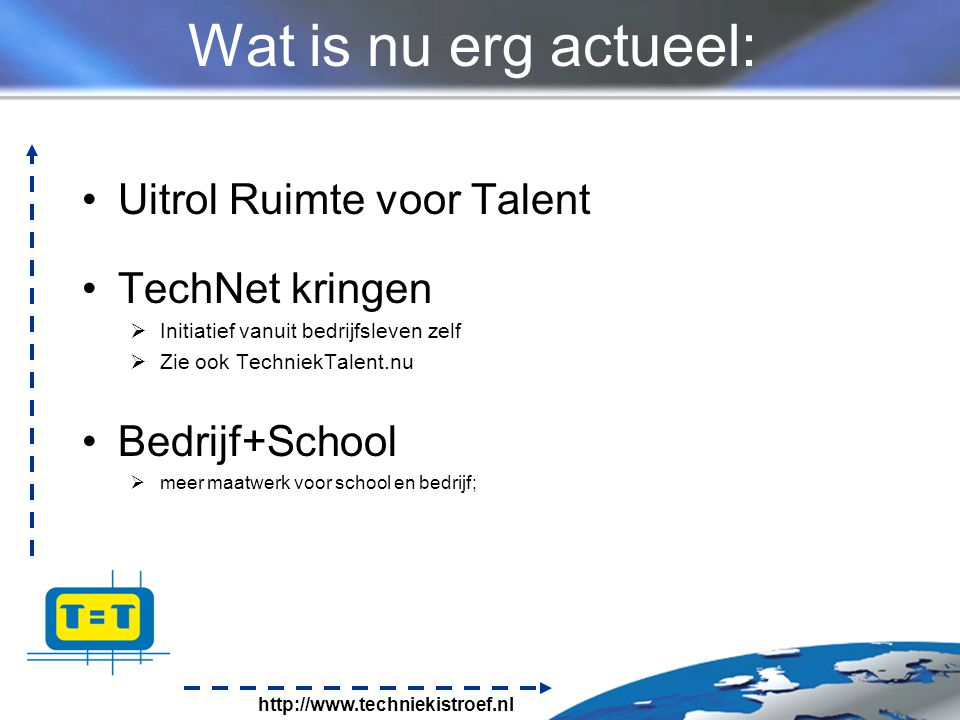 Wat is nu erg actueel: Uitrol Ruimte voor Talent TechNet kringen