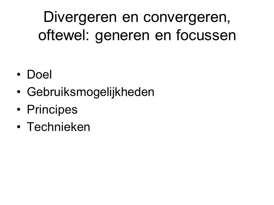 Divergeren en convergeren, oftewel: generen en focussen