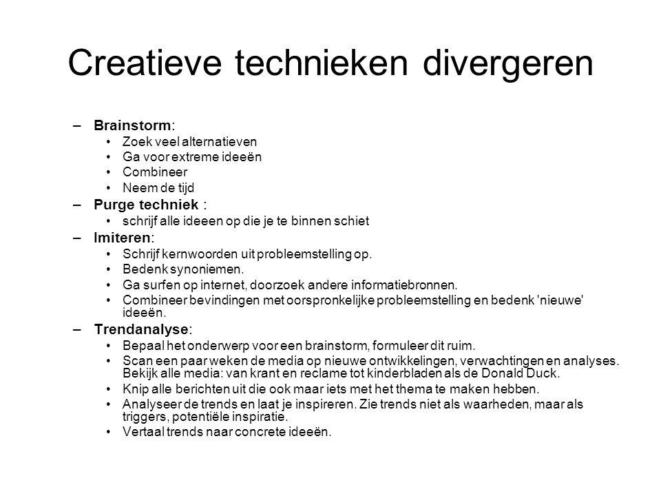 Creatieve technieken divergeren