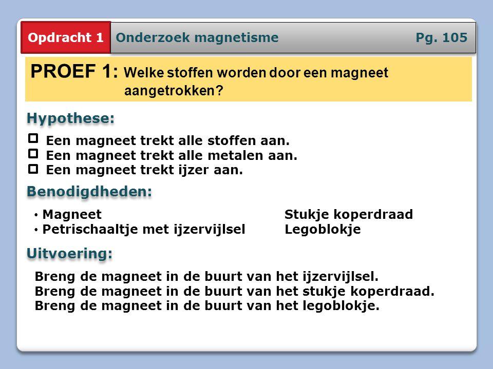 PROEF 1: Welke stoffen worden door een magneet aangetrokken