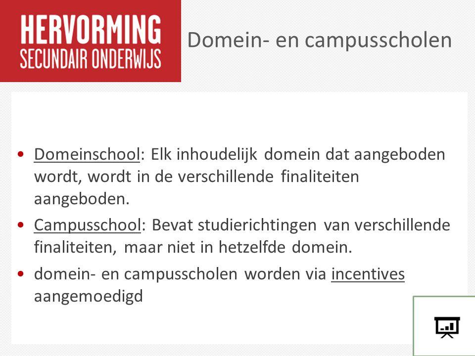 Domein- en campusscholen