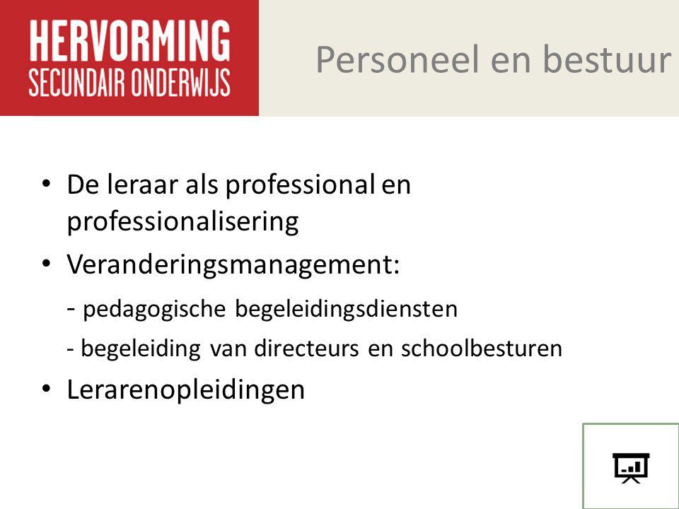 Personeel en bestuur De leraar als professional en professionalisering