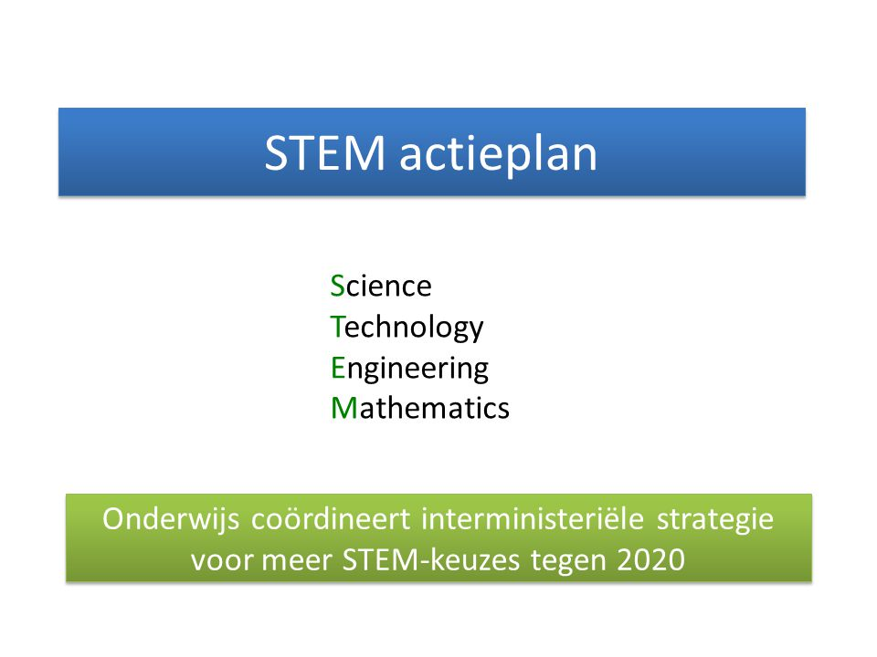 STEM actieplan Science Technology Engineering Mathematics