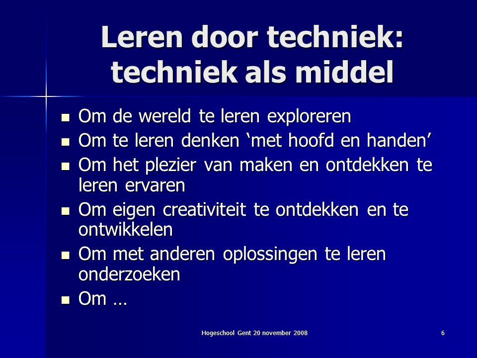 Leren door techniek: techniek als middel