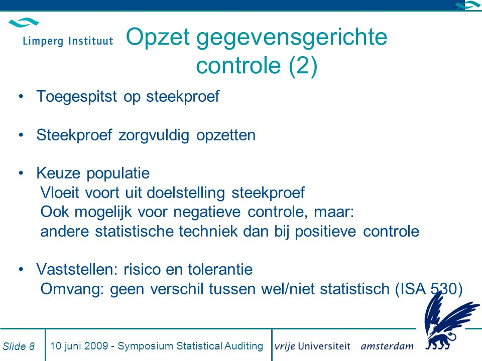 Opzet gegevensgerichte controle (2)