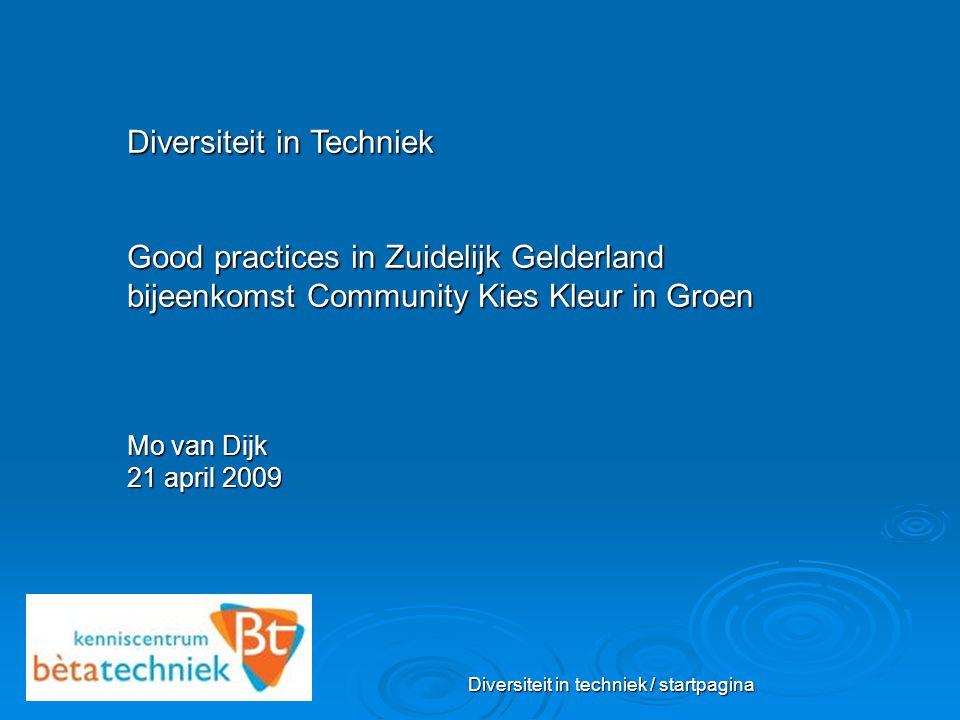 Diversiteit in techniek / startpagina