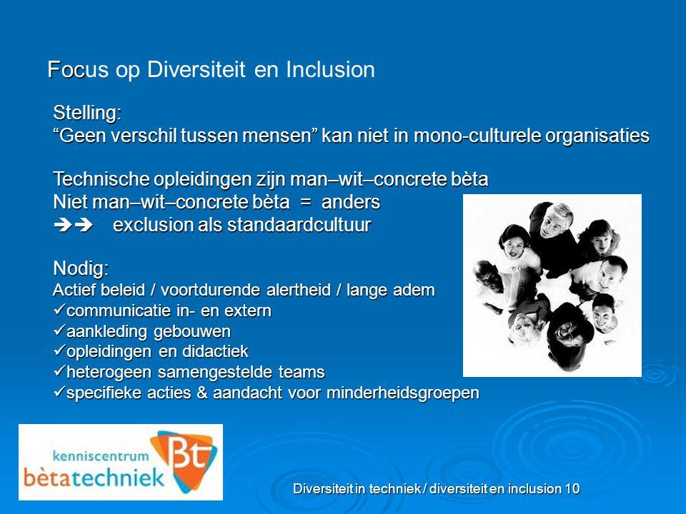 Diversiteit in techniek / diversiteit en inclusion 10