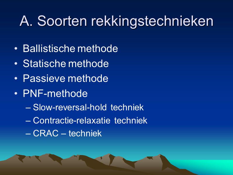 A. Soorten rekkingstechnieken