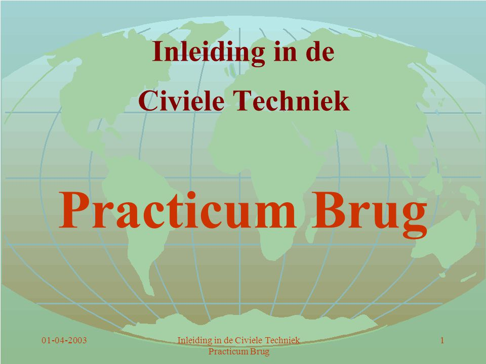 Inleiding in de Civiele Techniek