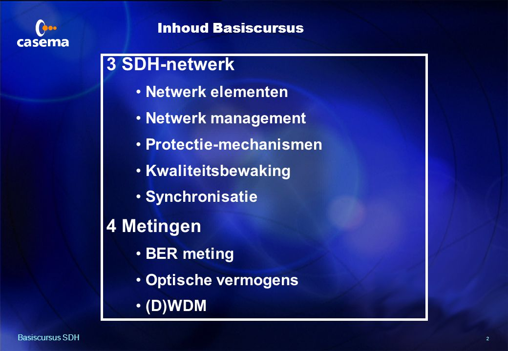 Casema netwerk en diensten
