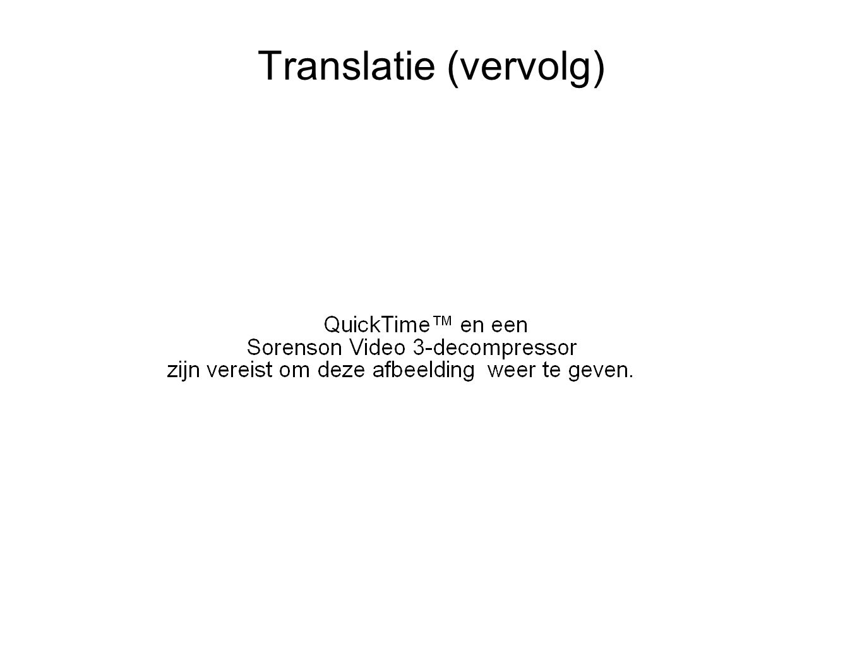 Translatie (vervolg)