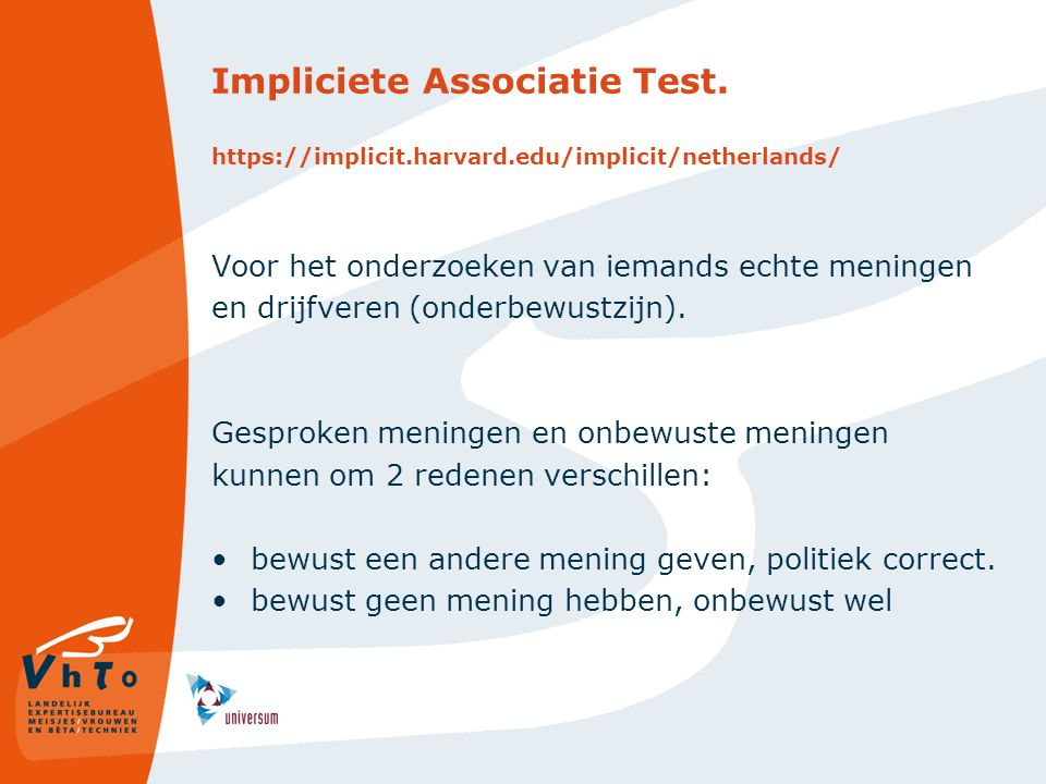 Impliciete Associatie Test. https://implicit. harvard