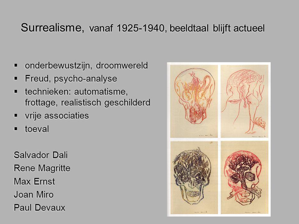 Surrealisme, vanaf 1925-1940, beeldtaal blijft actueel