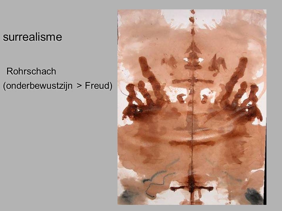 surrealisme Rohrschach (onderbewustzijn > Freud)