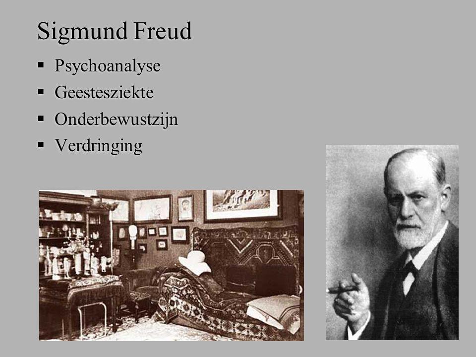 Sigmund Freud Psychoanalyse Geestesziekte Onderbewustzijn Verdringing