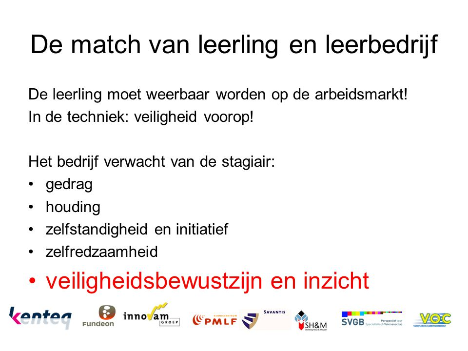 De match van leerling en leerbedrijf
