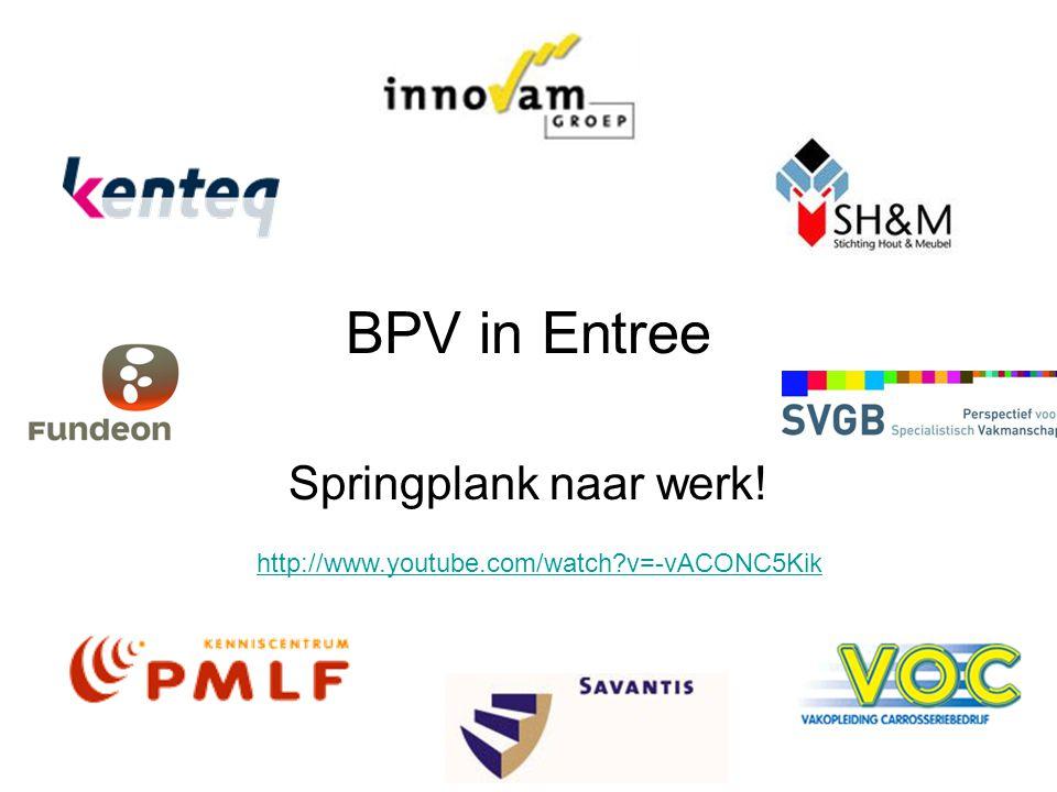 BPV in Entree Springplank naar werk!