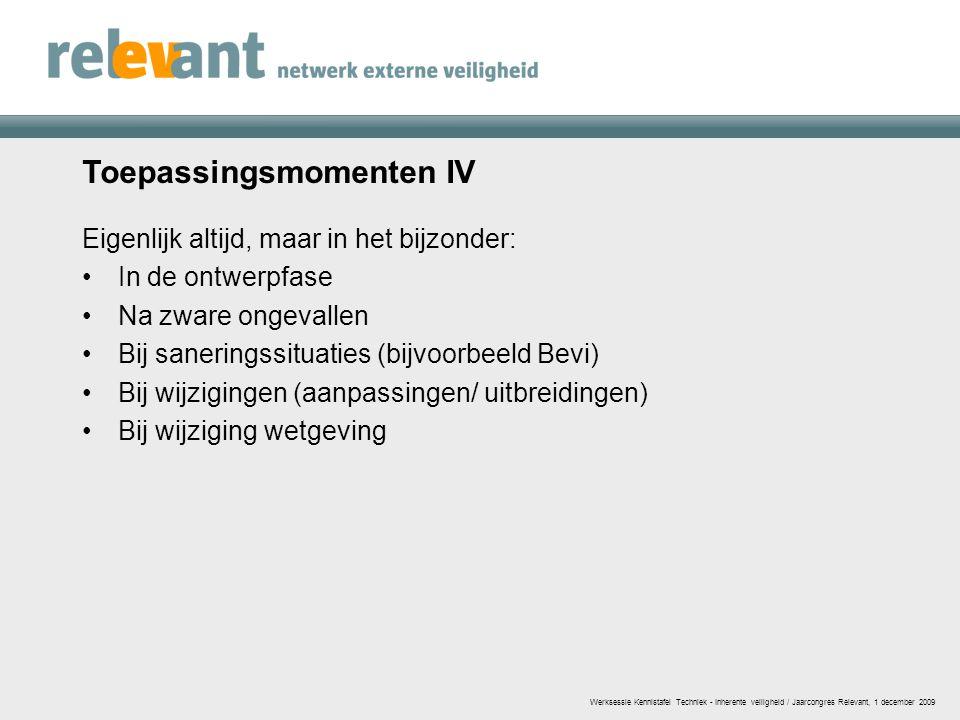 Toepassingsmomenten IV