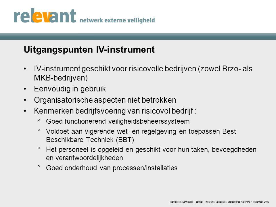 Uitgangspunten IV-instrument