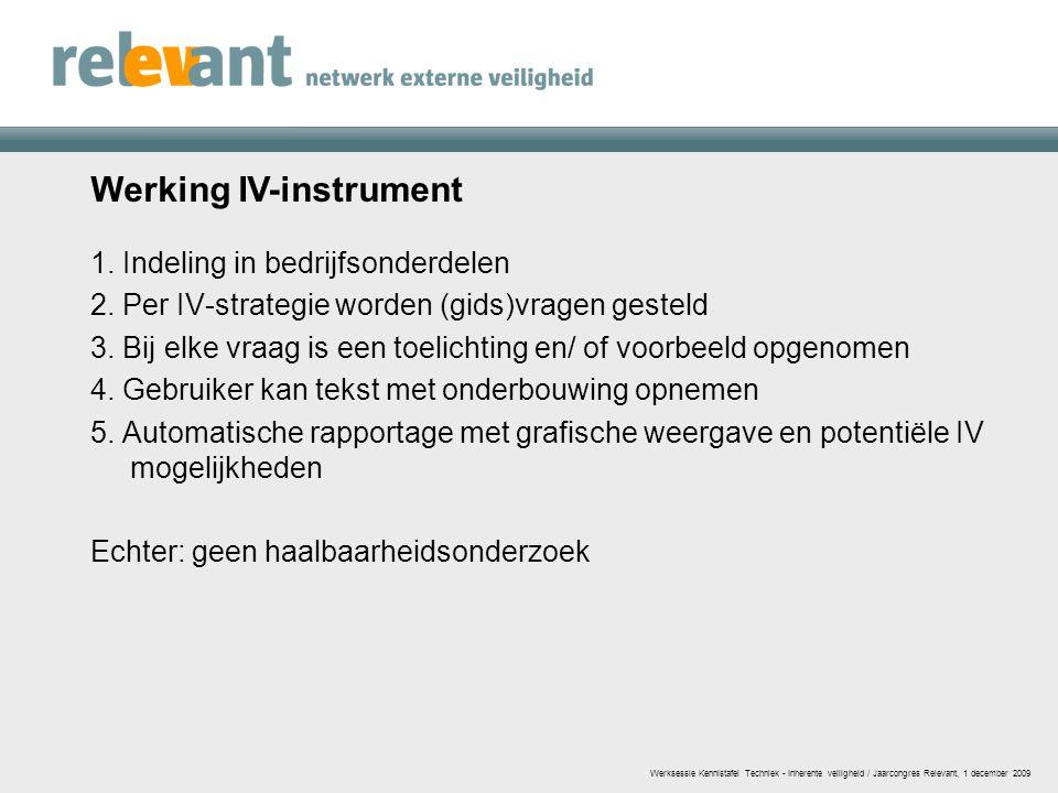 Werking IV-instrument
