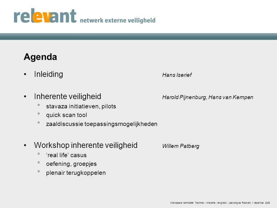 Agenda Inleiding Hans Iserief