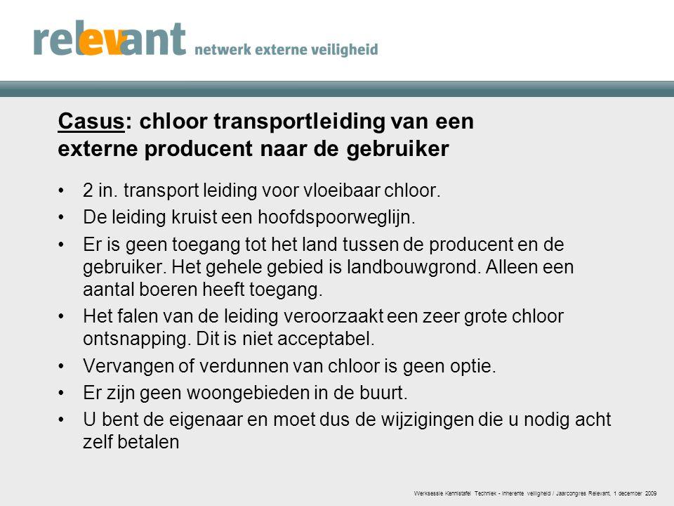 Casus: chloor transportleiding van een externe producent naar de gebruiker