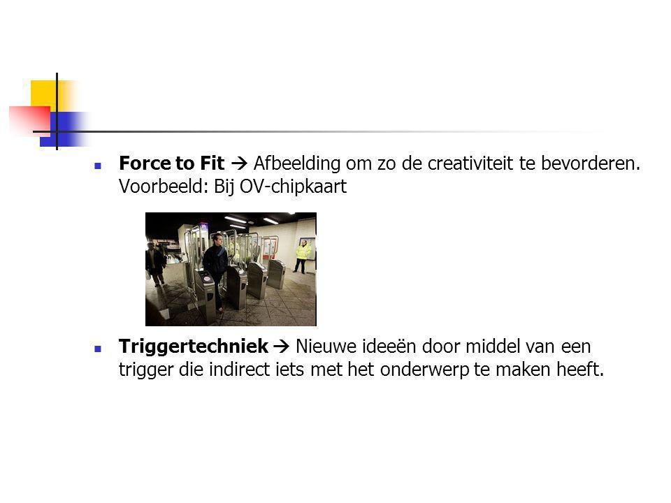Force to Fit  Afbeelding om zo de creativiteit te bevorderen