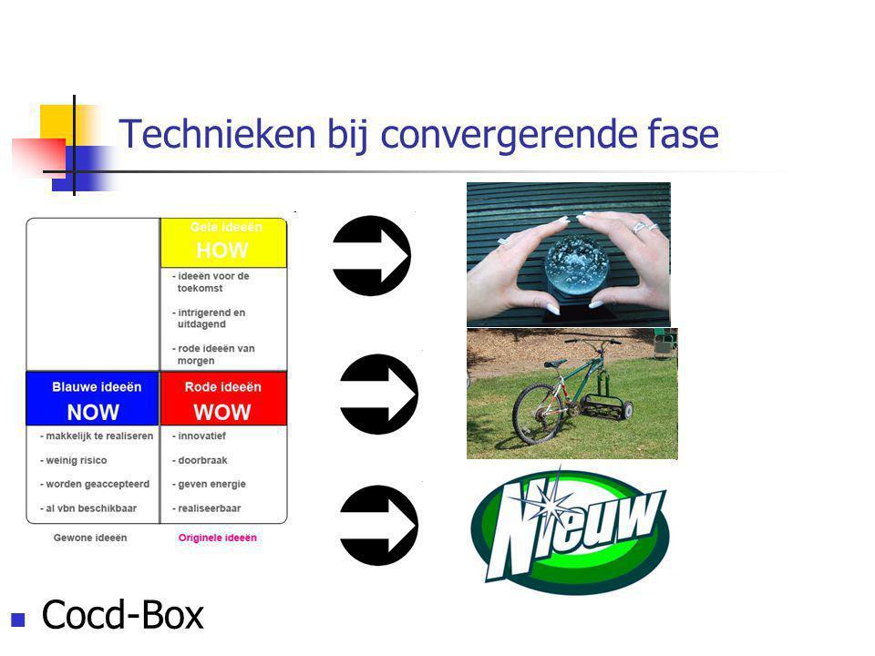 Technieken bij convergerende fase