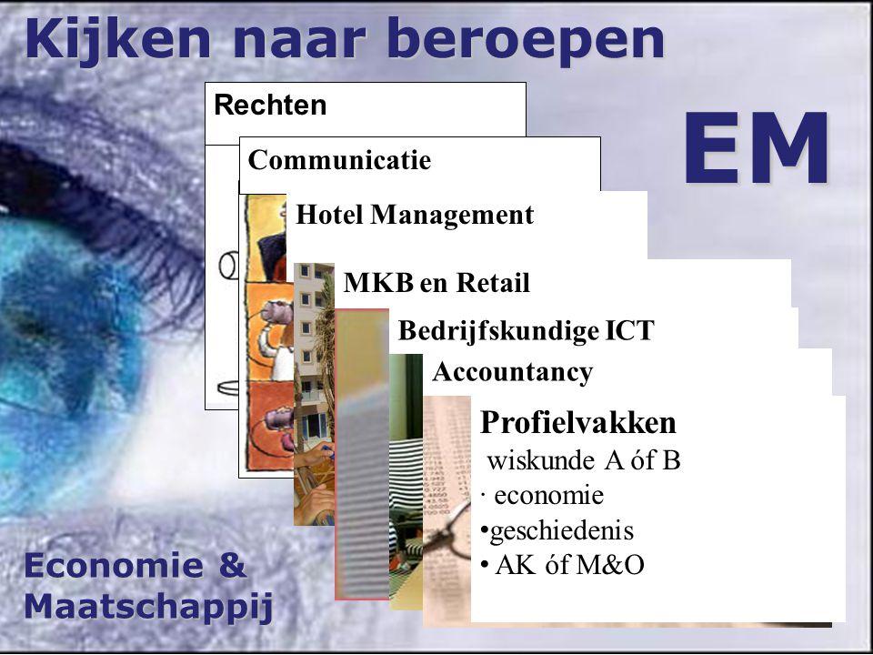 EM Kijken naar beroepen Profielvakken Economie & Maatschappij Rechten