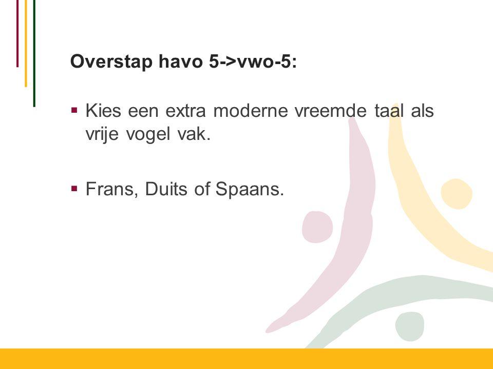 Overstap havo 5->vwo-5: