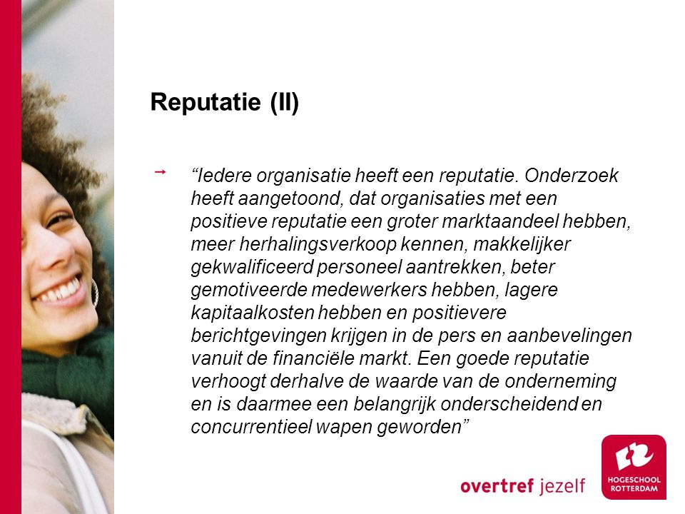 Reputatie (II)