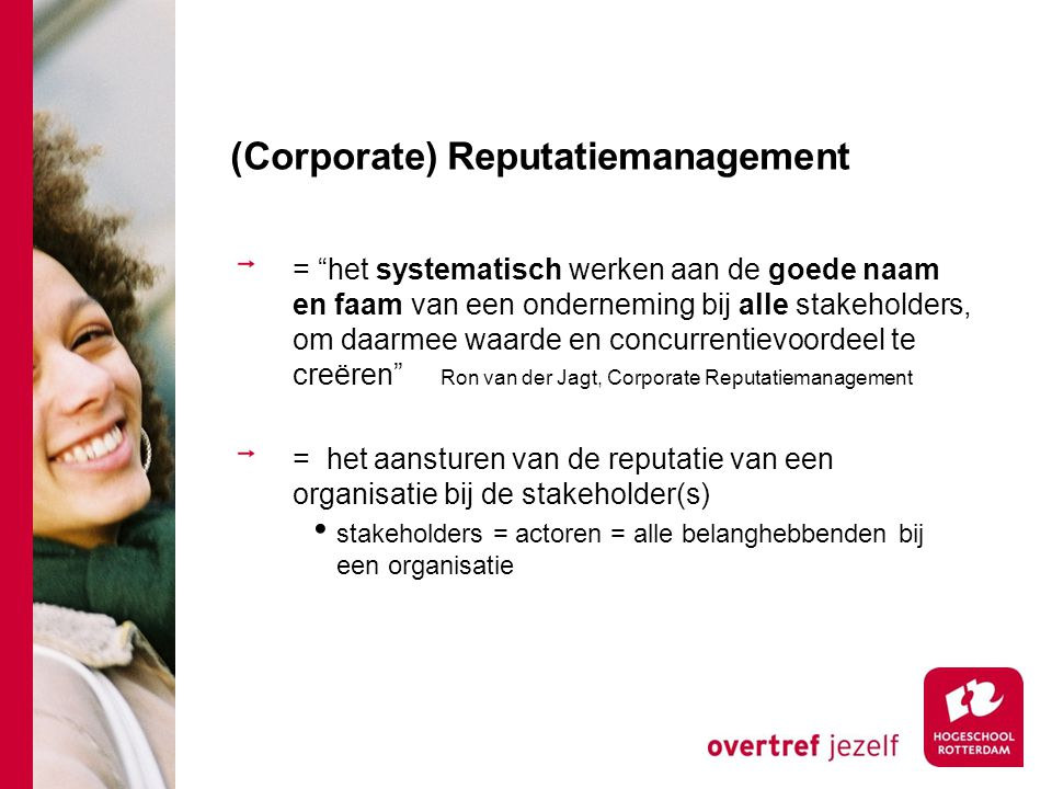 (Corporate) Reputatiemanagement