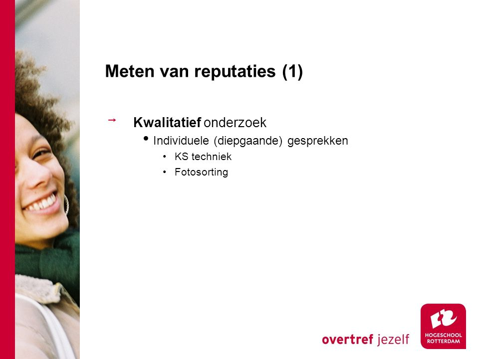 Meten van reputaties (1)